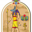 Egyptian god Anubis - Stock Photo