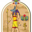 Egyptian god Anubis — Stock Photo