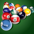 Billiard balls on the table — Stock Photo