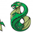 Dragons alphabet: ABC — Stock Photo