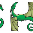 Dragons alphabet: GHI — Stock Photo