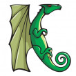 Dragons alphabet: JKL — Stock Photo