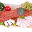 Stock Photo: Smoked pork loin