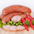 Pile of sausages — Stock Photo