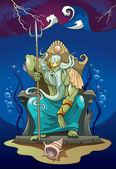 Poseidon, der gott des meeres — Stockfoto