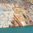 Lifeless pond in the opencast mine — Stock Photo