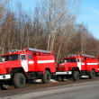 New fire trucks - Stock Photo