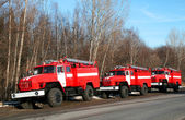 New fire trucks — Stock Photo