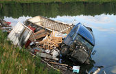 Truck crash — Stockfoto
