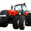 New red tractor — Stock Photo