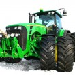 Stock Photo: Green tractor