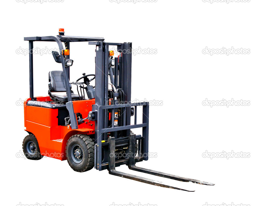 A forklift truck isolated on white background — Stock Photo #5290278