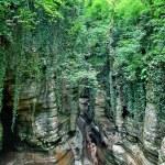 Dry waterfall — Stock Photo