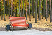 Bench in a park — Stock Photo