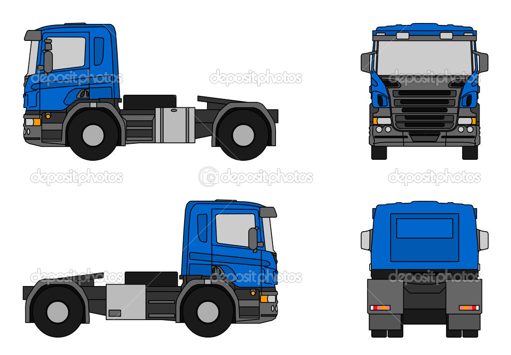 Semi Truck Images Clip Art Semi Trailer Clip Art