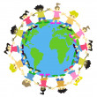 Royalty-Free Stock Vector Image: WORLD KIDS