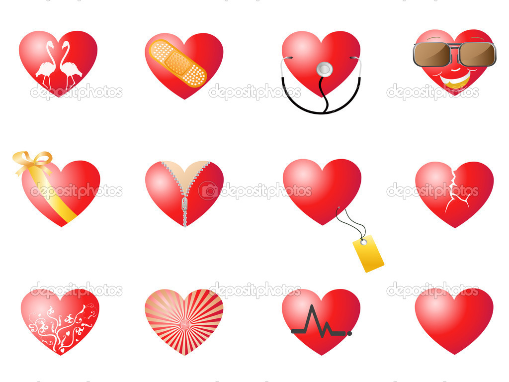 Loving hearts set for Valentine design — Stock Vector #4699644