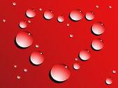 Love heart drops — Stock Vector