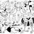 Royalty-Free Stock Vector Image: Doodle background of Valentine