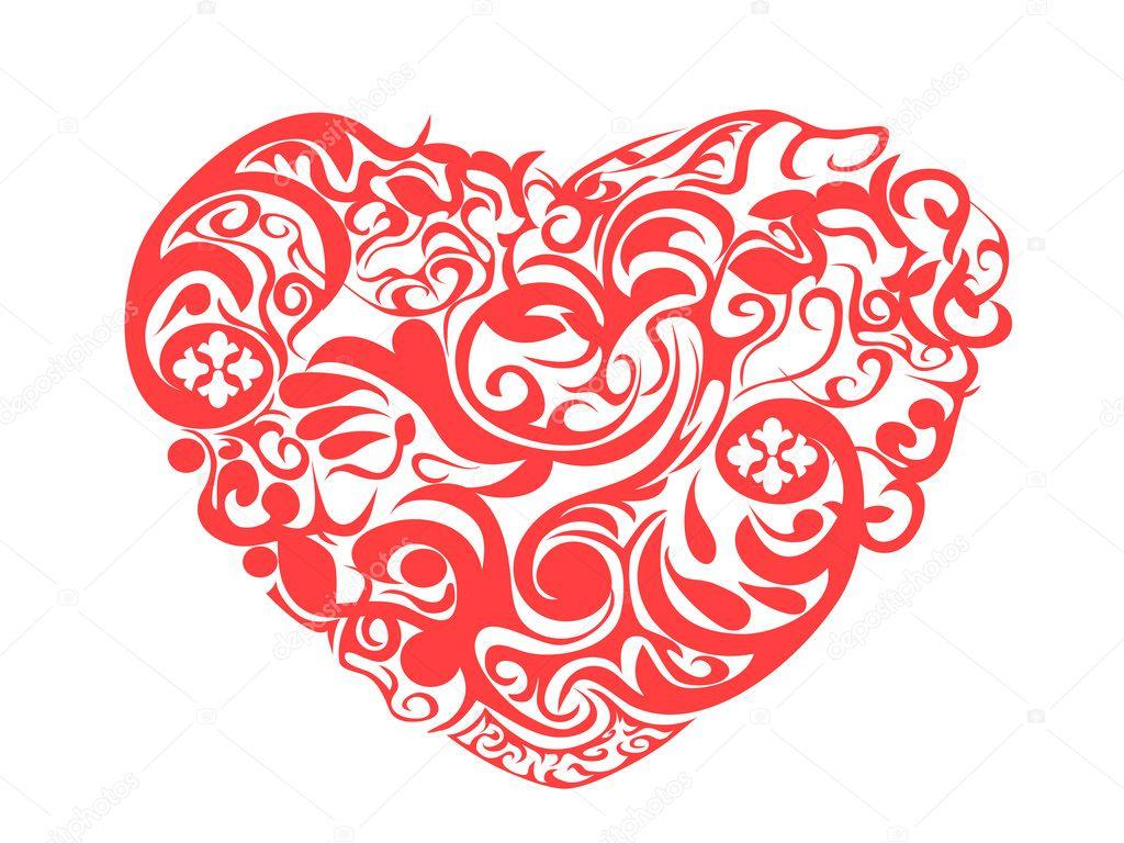 Red Heart Pattern Wallpaper Red pattern heart - stock