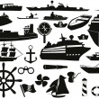 Sailing objects icon set — Stock Vector #5048813