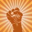 Royalty-Free Stock Vector Image: Powerful fist