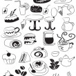 Royalty-Free Stock Vector Image: Doodle coffee and tea icon set