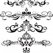 Vector de stock : Black floral ornaments
