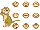 Funny monkey face — Stock Vector