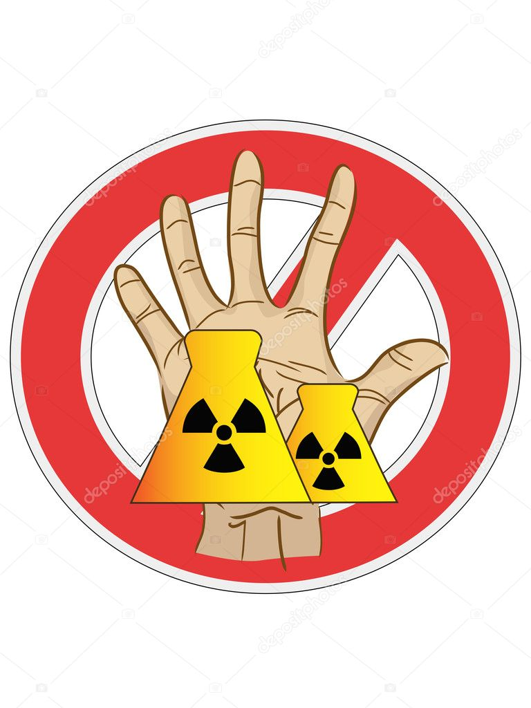 The sign of no nuclear power — Stock Vector #5286511