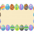 Easter eggs banner — Stock Vector