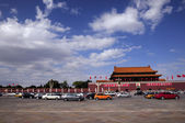 Beijing tiananmen tower and changan street — Stok fotoğraf