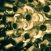 Wine bottles stacked up — Stock Photo