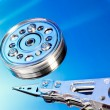 Hard drive internals — Stock Photo