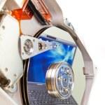 Hard drive internals — Stock Photo #5229369
