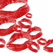 Red lips print — Stockfoto