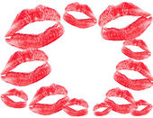 Red lips print — Stock Photo
