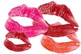 Red lips print — Stock Photo