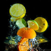 Fruit splash — Stock Photo