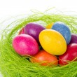 Easter eggs in nest — Stock Photo #5287417