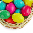 Easter eggs in basket — Stock Photo #5293724