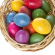 Stock Photo: Easter eggs in basket