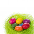 Easter eggs in nest — Stock Photo #5293875