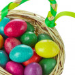 Easter eggs in basket — Stock Photo #5293897