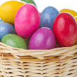 Easter eggs in basket — Stock Photo #5293906