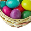 Easter eggs in basket — Stock Photo #5294035