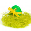 Easter egg in nest - Stockfoto