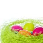 Easter eggs in nest — Stock Photo #5294293