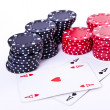 Royalty-Free Stock Photo: Playing cards and poker chips
