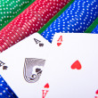Poker chips with ace — Stock Photo #5295946